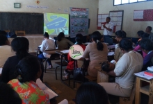 Atelier sur la sécurité routière des élèves avec les enseignants.