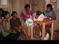 Sewing training for single mothers